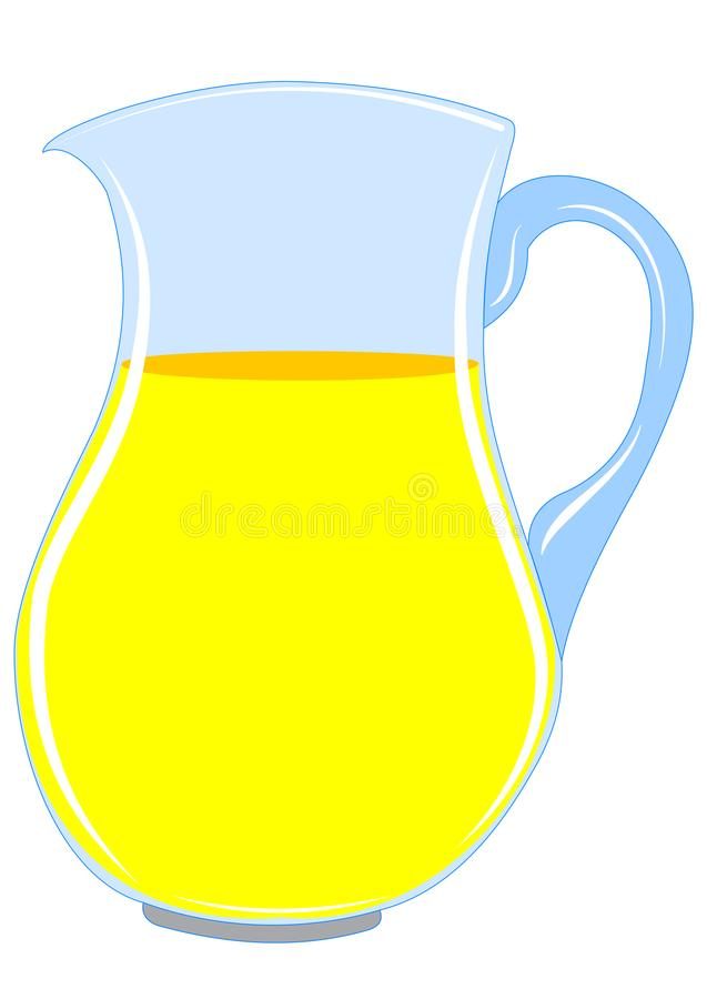 Pitcher with drink. Illustration of a pitcher with a yellow drink royalty free illustration