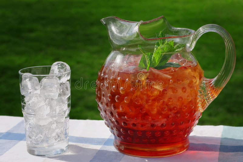 Pitcher of Iced Tea royalty free stock image