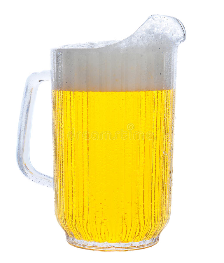 Free Pitcher Of Beer On White Stock Photography - 23915222