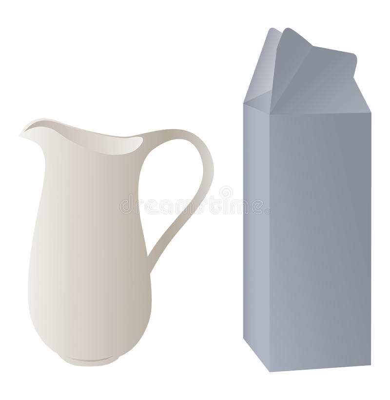 Pitcher and packaging royalty free stock image