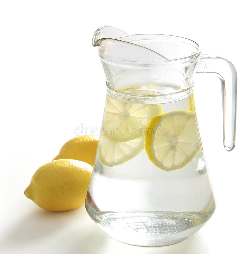 Pitcher of Water. With lemon slices