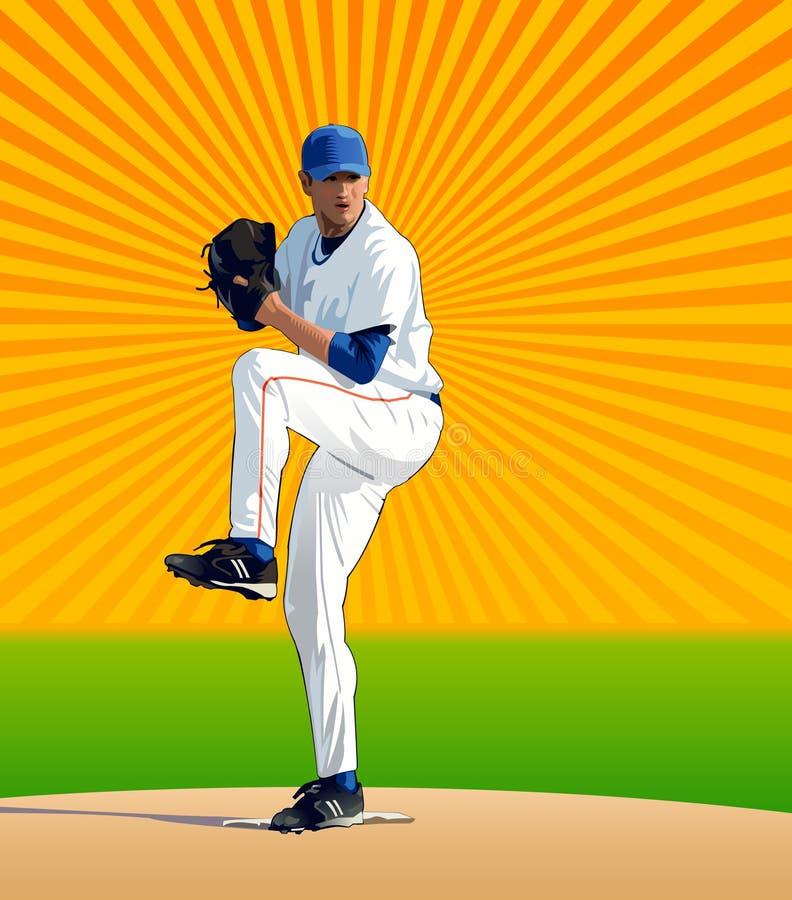 Pitcher Wind Up vector illustration