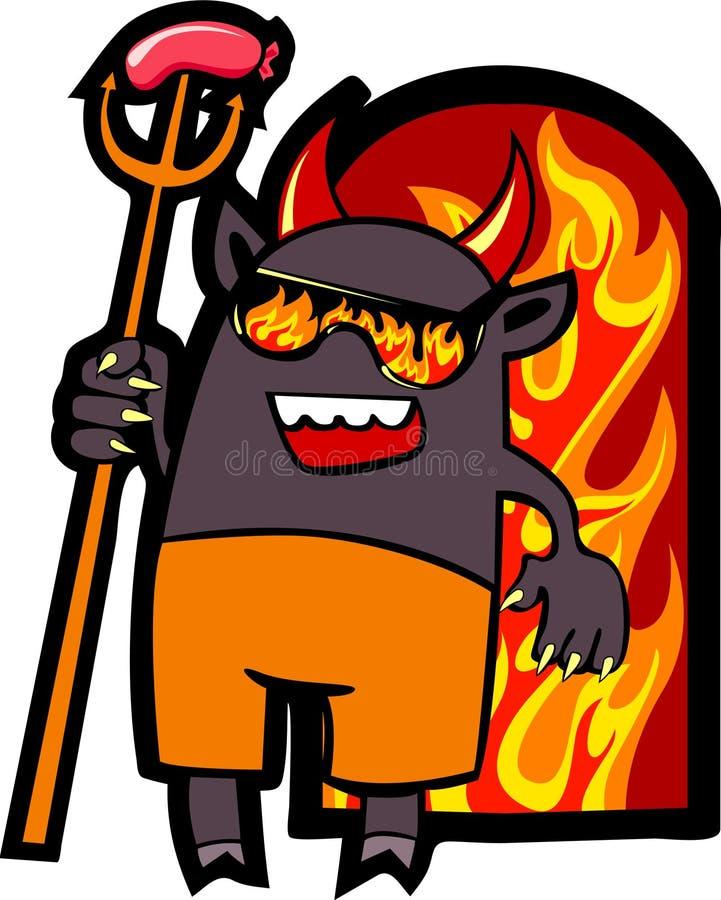 pitchfork руки дьявола иллюстрация вектора
