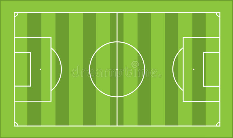 pitchfotboll vektor illustrationer