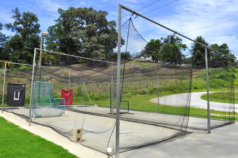 Download Pitching And Batting Practice Cage Stock Photo - Image: 26449536