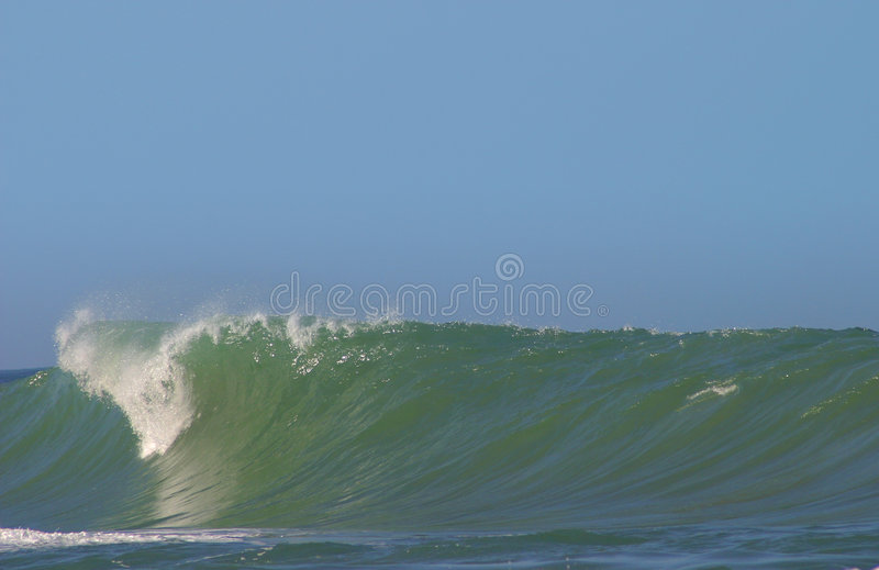 Pitching Ocean Wave stock photography
