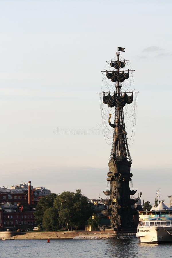 Piter das große Monument, Moskau stockbild