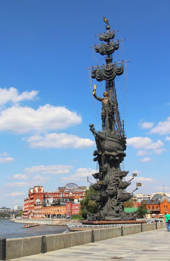 Piter das große Monument in Moskau lizenzfreie stockfotos