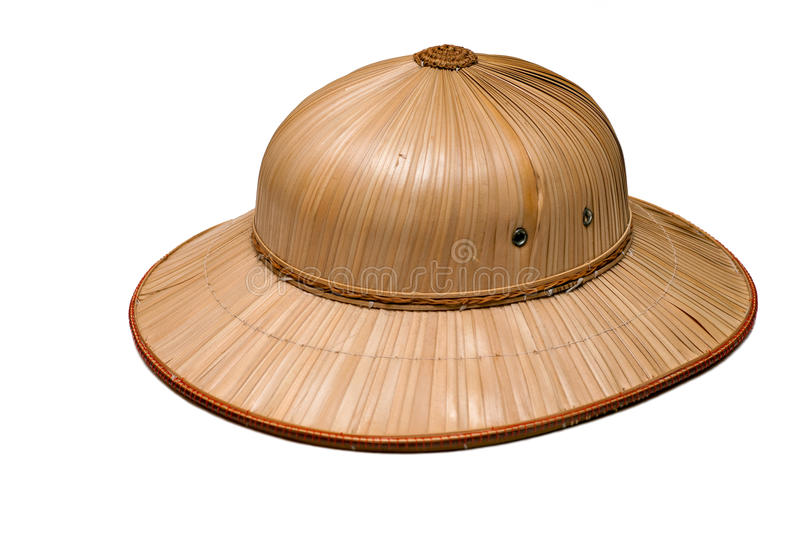 Pith hat. Designed to shade the wearer's head and face from the sun royalty free stock images
