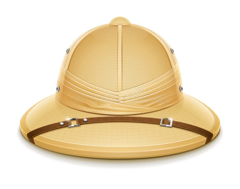 Download Pith helmet hat for safari stock vector. Illustration of safari - 26621193