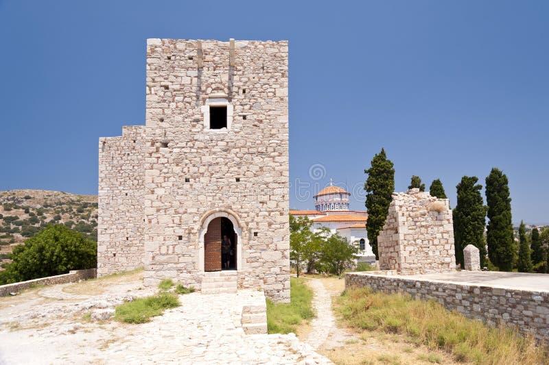 Pithagorio op Samos stock foto's
