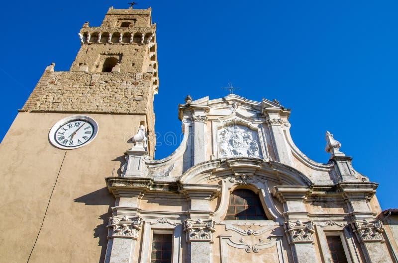 Pitigliano church - Grosseto - Tuscany - italy.  royalty free stock photos