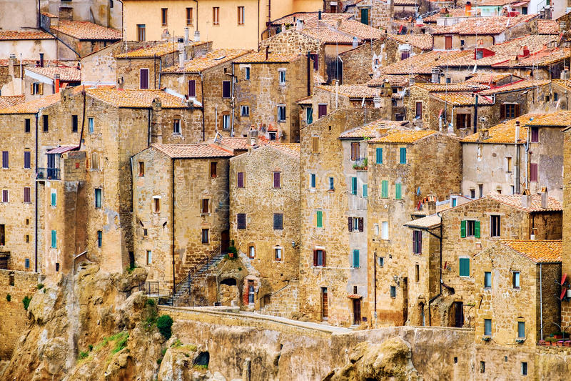 Pitigliano city Tuscany Italy stock photo