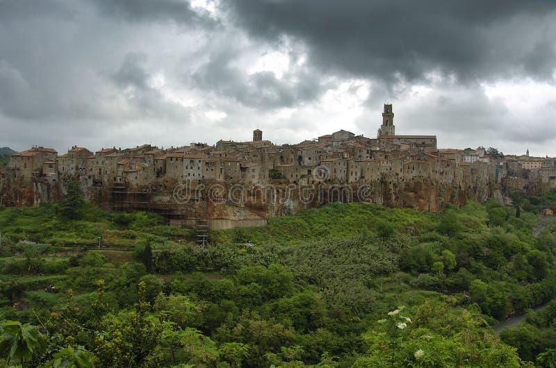 Download Pitigliano cloudy stock image. Image of cityscape, grosseto - 12361601