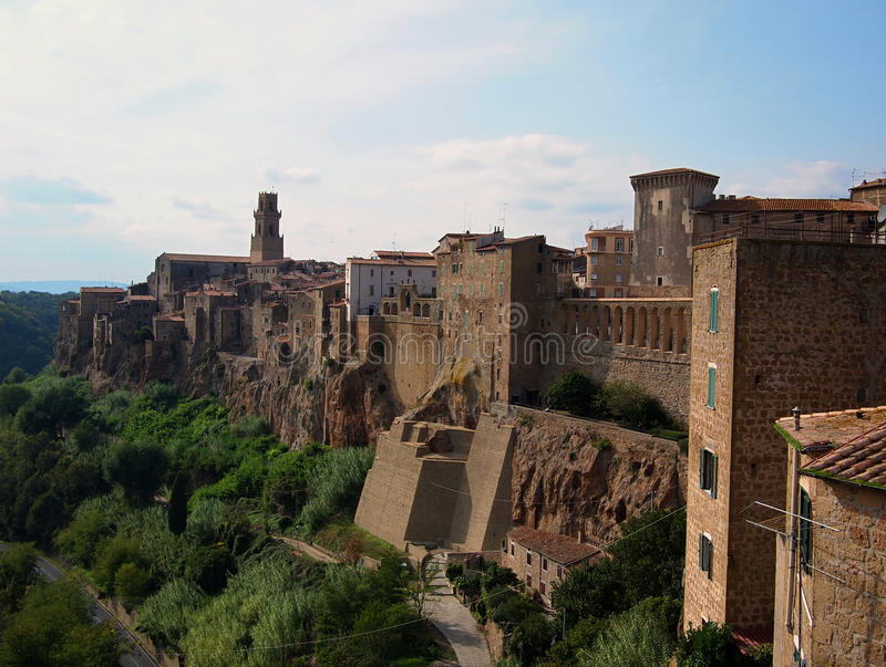 Pitigliano, hilltop town royalty free stock photos