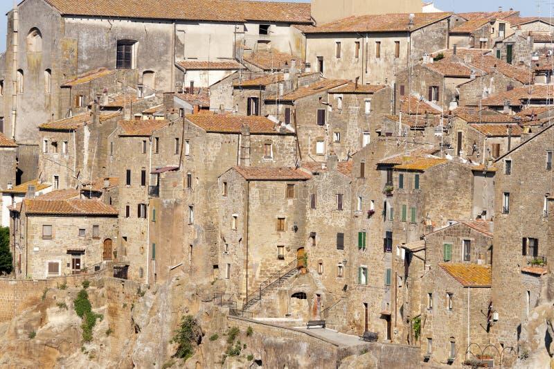 Pitigliano (Toscana) en la mañana fotografía de archivo libre de regalías