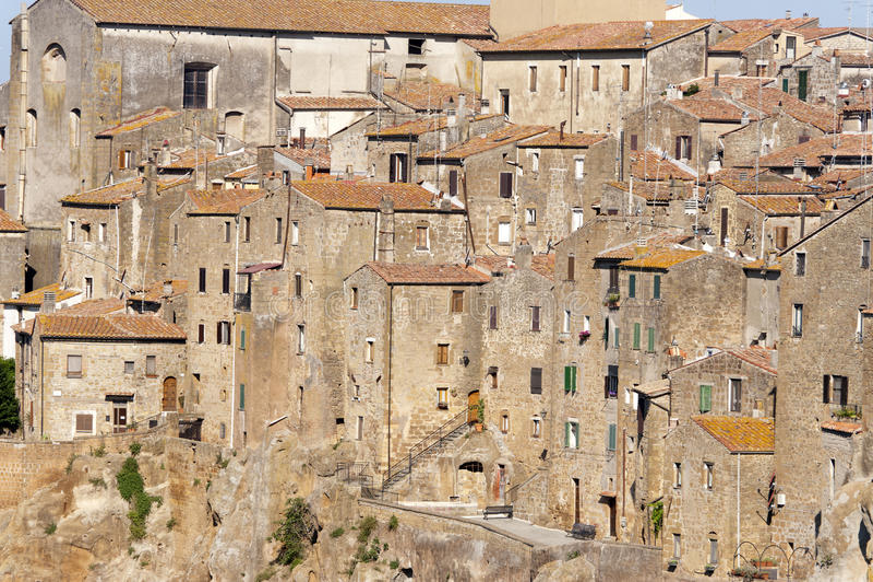 Pitigliano (Toscane) au matin photographie stock libre de droits