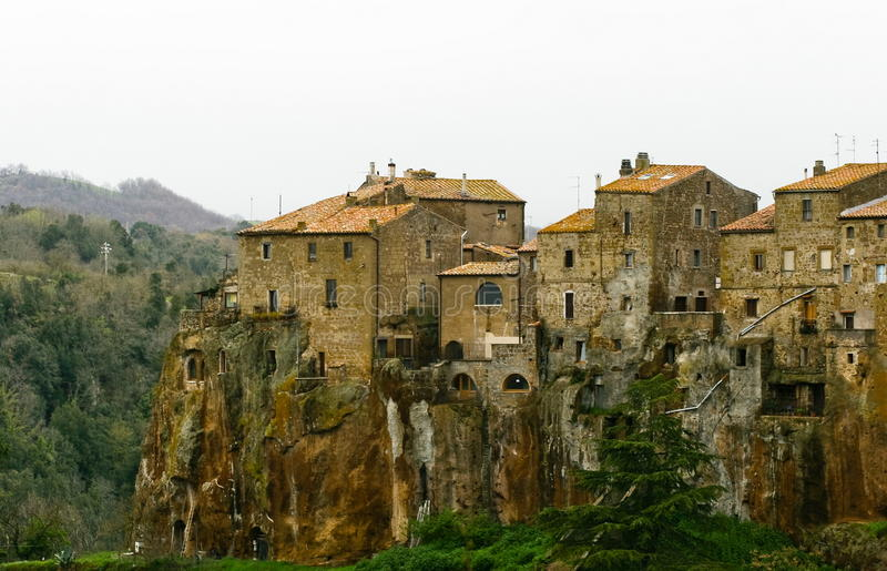 Pitigliano town royalty free stock images