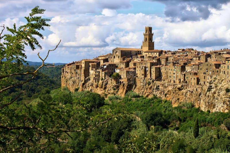Pitigliano - Tuscany, Italien royaltyfria foton