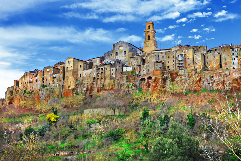 Pitigliano ,Tuscany, Italy stock image