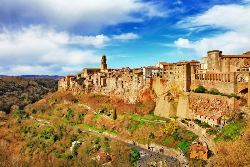 Pitigliano, Tuscany, Włochy zdjęcie stock