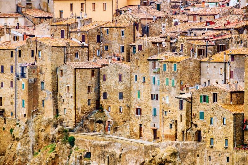 Pitiglianostad Toscanië Italië stock foto