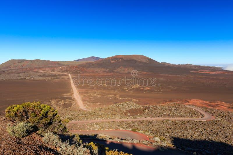 Piton DE La Fournaise vulkaan, het Eiland van de Bijeenkomst stock fotografie