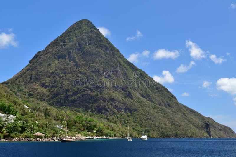 Piton mountains royalty free stock photos