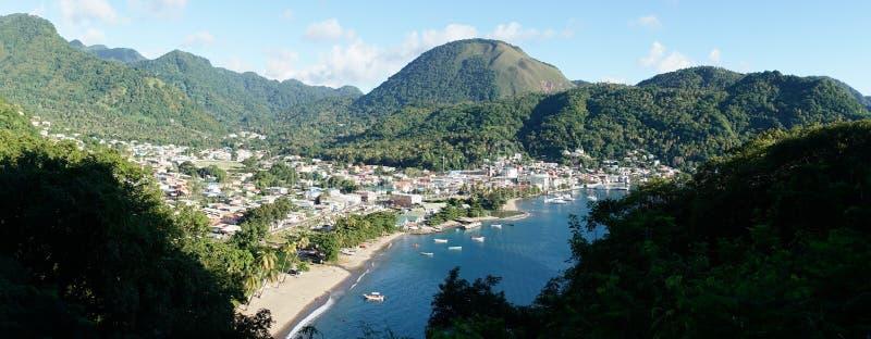 The Piton Mountains on the tropical Caribbean Island Saint Lucia.  royalty free stock photos