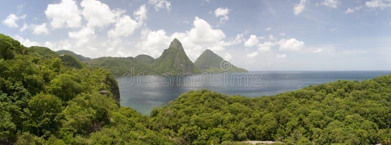 Pitons de St Lucia fotos de stock royalty free