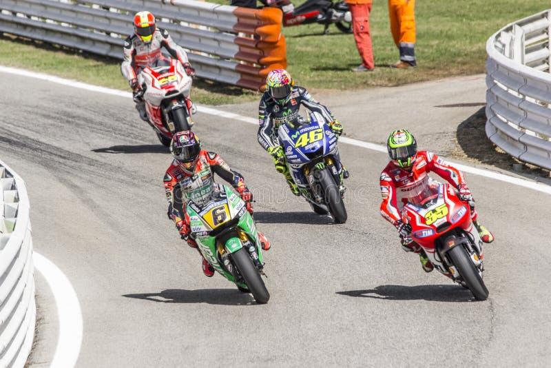 Pits exit Misano MotoGP race stock photography