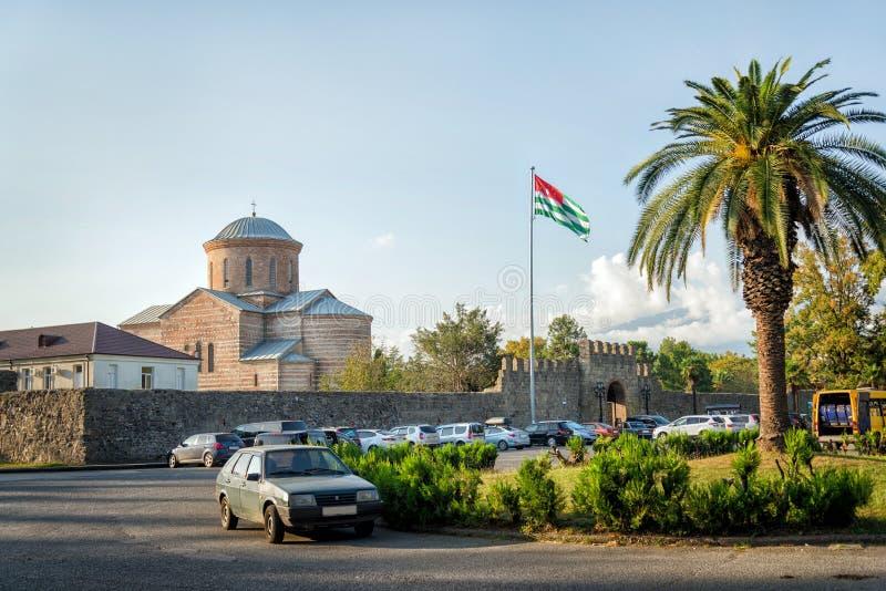 Pitsunda city core. Abkhazia - August 28, 2019 stock photos