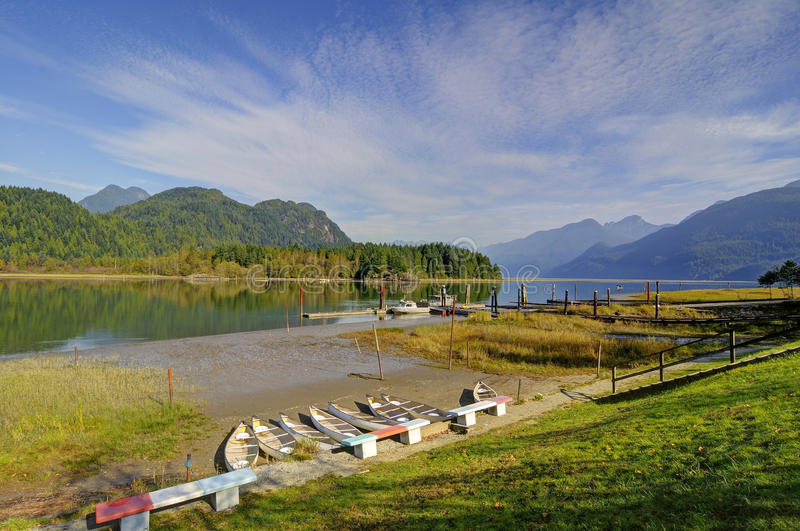 Pitt Lake in Pitt Meadows. Greater Vancouver, Canada royalty free stock images