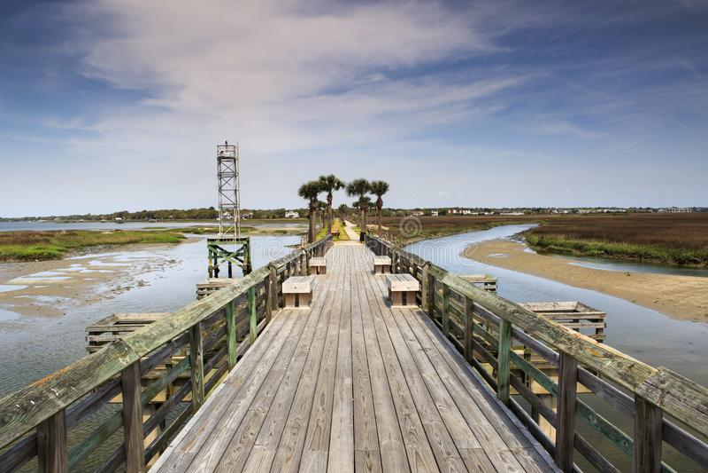 Pitt Street Bridge Charleston South Caroline photographie stock libre de droits