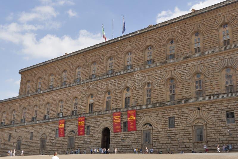 Pitti slott, störst museumkomplex i Florence royaltyfria foton