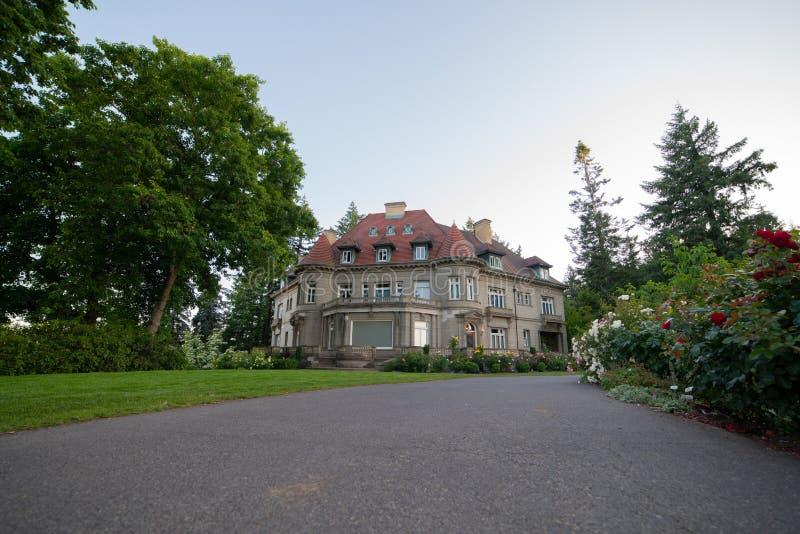 Pittock mansion - famous Oregon landmark royalty free stock image