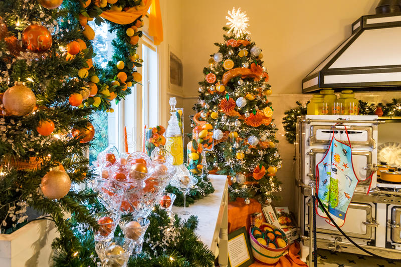 Download Pittock Mansion Kitchen In Christmas Editorial Stock Image   Image  Of Kitchen, Destination: