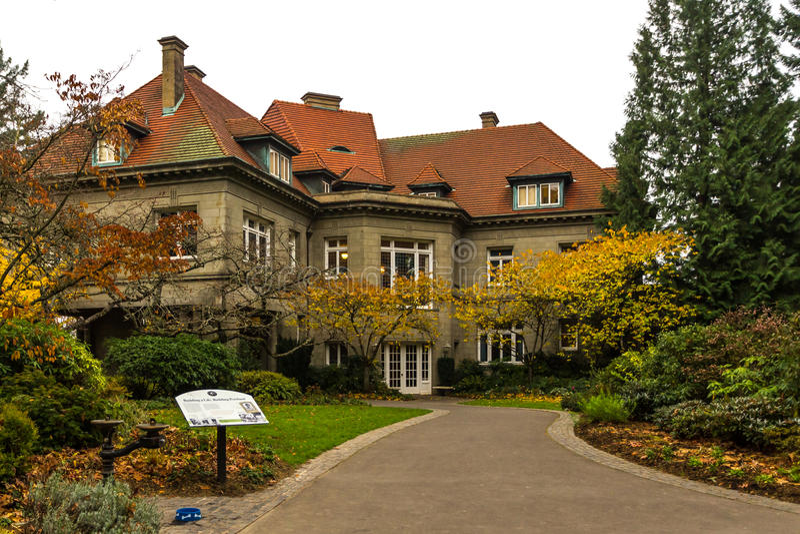 Pittock Mansion Museum stock image