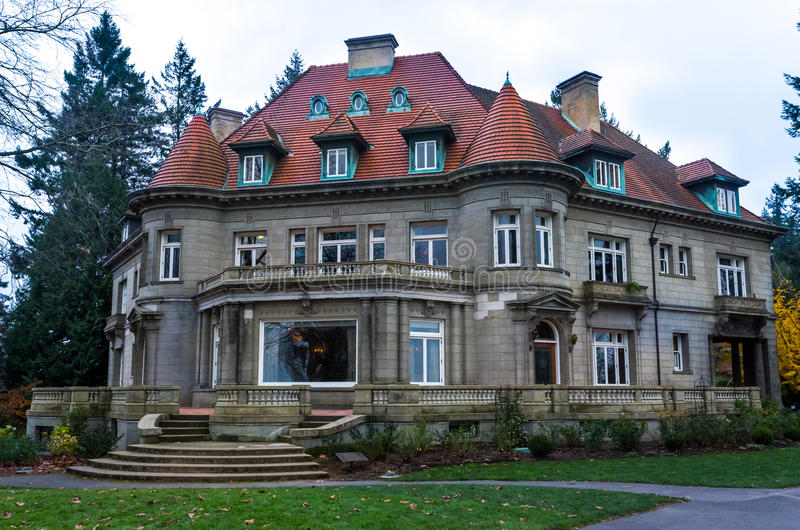 Pittock Mansion Museum. Famous museum in Portland, Oregon, Pittock Mansion stock images