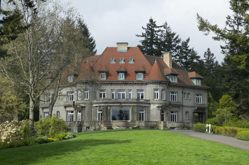 Pittock Mansion of Portland, Oregon royalty free stock images