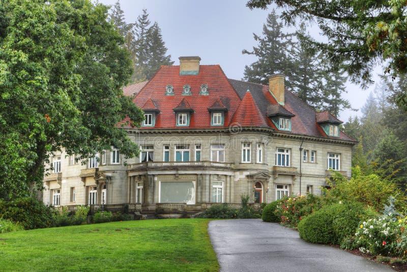 Pittock Mansion in Portland, Oregon stock photo