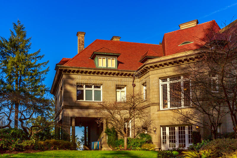 Pittock Mansion stock photography