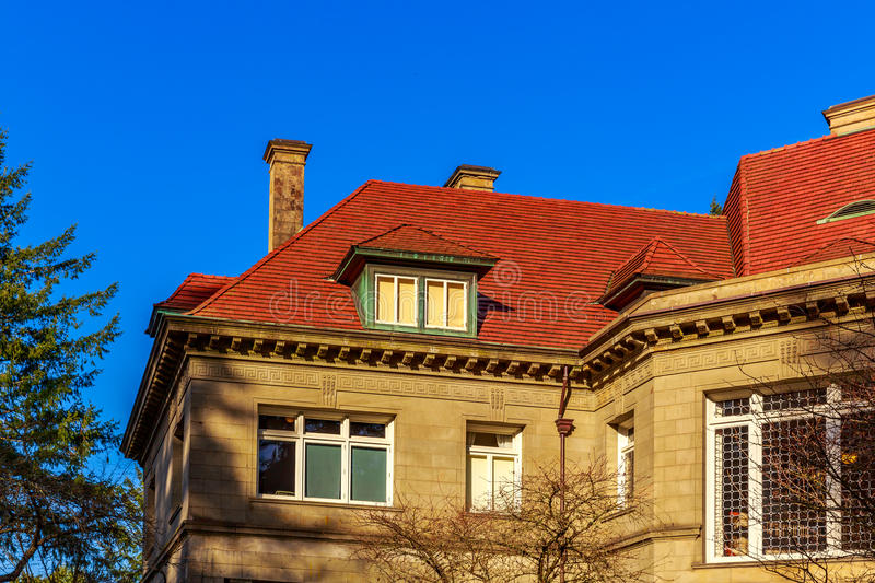 Pittock Mansion stock images