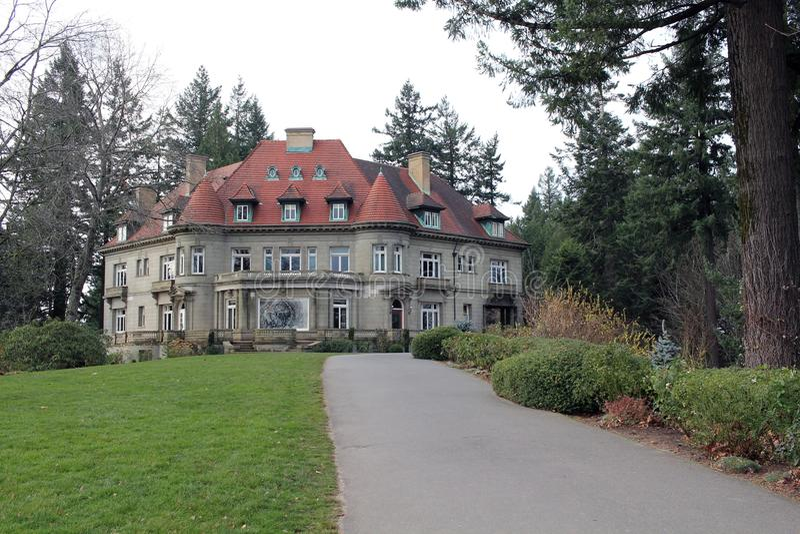 Pittock-Villa, Portland, Oregon stockfotos