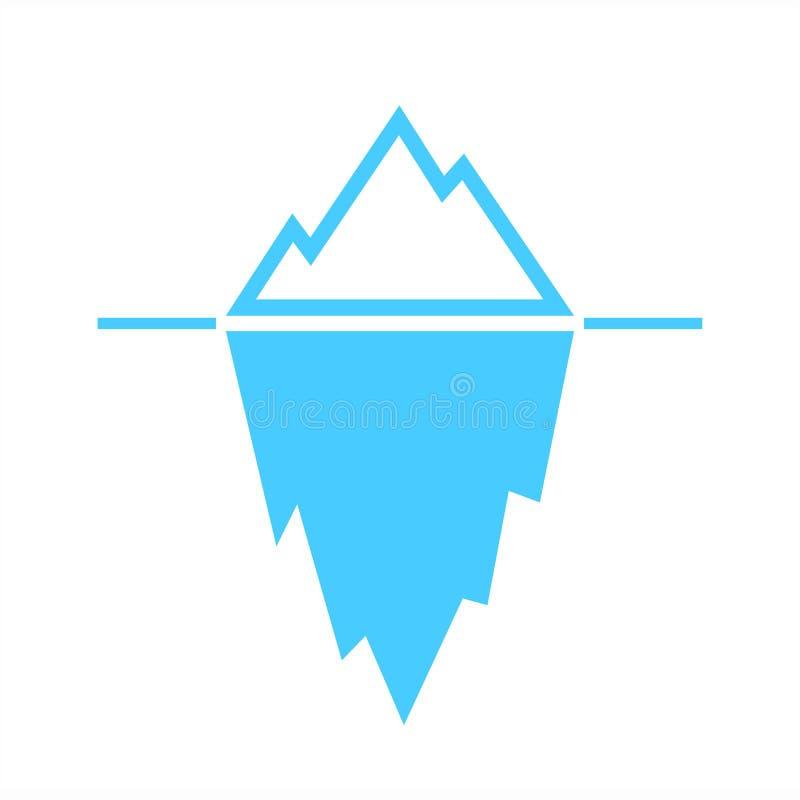 Pittogramma blu di vettore dell'iceberg royalty illustrazione gratis