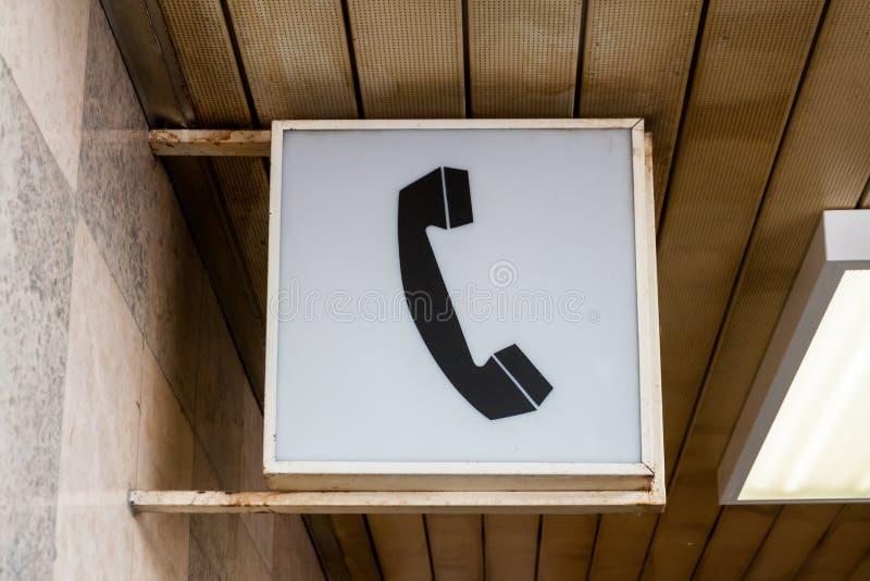 Pittogramma d'annata del telefono fotografia stock libera da diritti