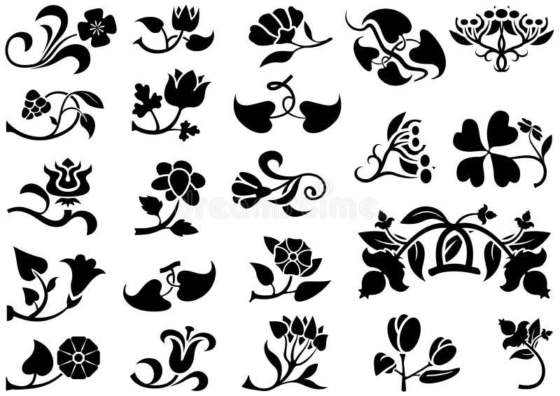 Pittogramma del fiore illustrazione vettoriale
