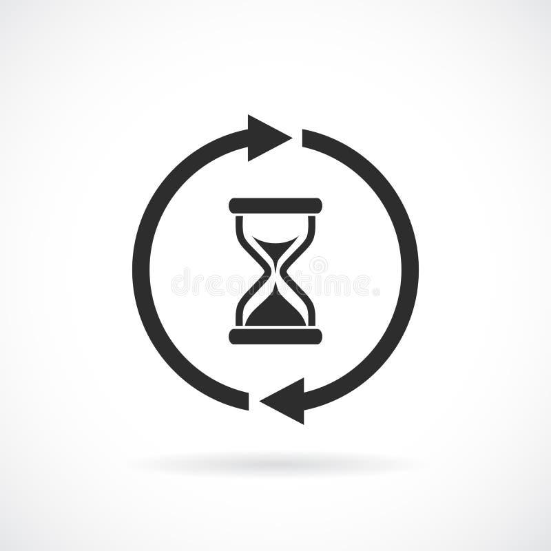 Pittogramma di vettore di web di tempo di attesa illustrazione di stock