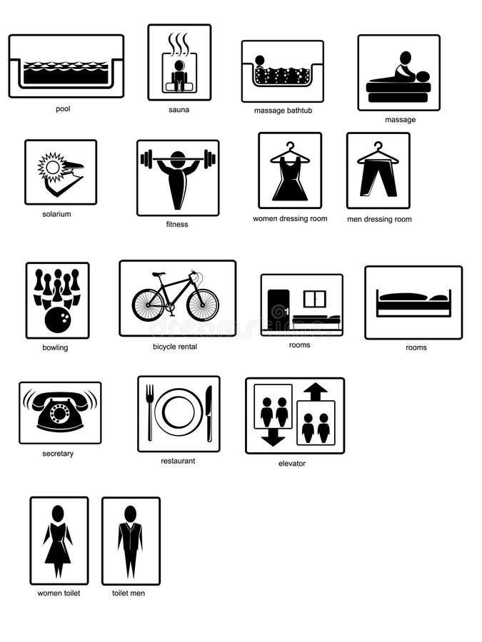 Pittogrammi royalty illustrazione gratis