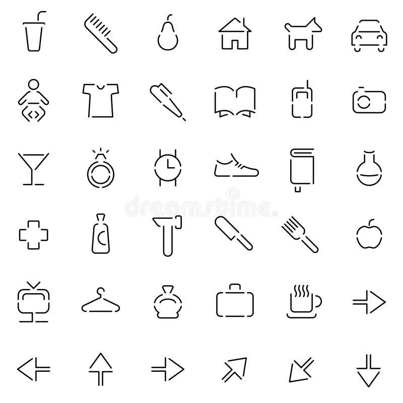 Pittogrammi illustrazione di stock
